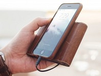 Nomad: Leather Charging Wallet for Lighting - Case of 2