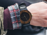 Analog Watch Co.: Leather & Blackwood Watch