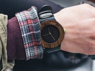 Leather & Blackwood Watch