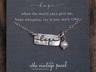 The Vintage Pearl: Word Charm Necklace