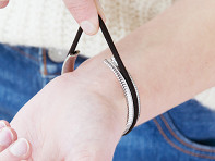 Stainless Steel Hair Tie Bracelet - Unity Design