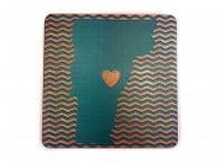 Torched Products: State with Heart Coasters - 4 Pack - Case of 6