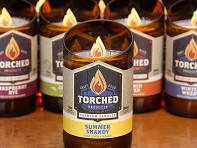 Torched Beer Bottle Candle - 11 oz. - Case of 12
