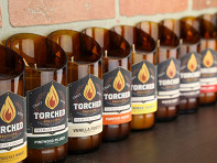 Torched Beer Bottle Candle - Case of 24