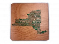 Torched Products: State Typography Coasters - 4 Pack - Case of 6