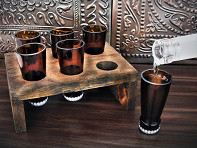Beer Bottle Shot Glass - Set of 6