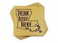 Torched Products: Drink Beer From Here Coasters - 4 Pack - Case of 6