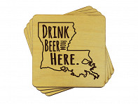 Drink Beer From Here Coasters - 4 Pack - Case of 6