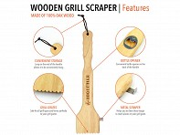 Wood Grill Scraper - Case of 8