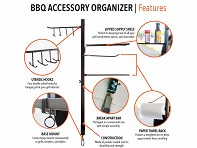 BBQ Accessory Organizer - Case of 8