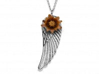 The Blessing Flower: Angel Wing Necklace
