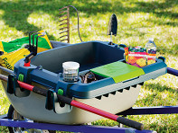 Little Burros: Wheelbarrow Organization Shelf