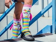 MooshWalks: Kid's Knee High Character Socks - Case of 6