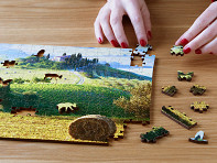 Zen Art & Design: Medium Wooden Jigsaw Puzzle Marketing Package