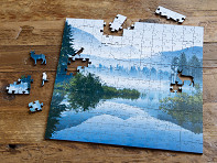 Zen Art & Design: Medium Wooden Jigsaw Puzzle