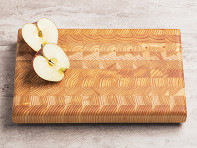 Larch Wood: End Grain One Handed Cutting Board - Sample