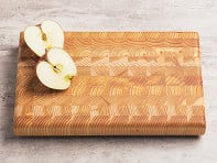 Larch Wood: End Grain One Handed Cutting Board