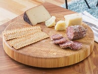 Larch Wood: End Grain Original Round Cutting Board