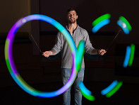 Spinballs: LED Poi Balls - Sample