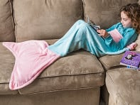 Seatail: Children's Fleece Mermaid Tail Blanket - Case of 10