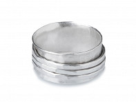 Magpie Creative: Silver Hammered Spinner Ring Starter Pack - Case of 8