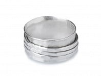 Silver Hammered Spinner Ring Starter Pack - Case of 8
