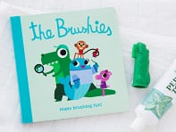 The Brushies: Finger Puppet Toothbrush + Story Book - Case of 4