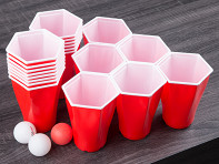 Hexcup: Hexagonal Beer Pong Game With Display - Case of 16