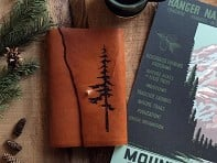 Tactile Craftworks: Etched Leather Map Journal - Pine Tree