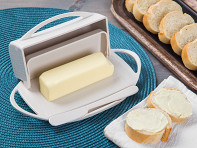 Butterie: Flip-Top Butter Dish with Spreader - Case of 12