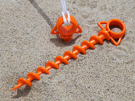 Orange Screw: Large Ground Screw - Set of 2
