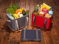 meori: Foldable Grocery Basket - Case of 5