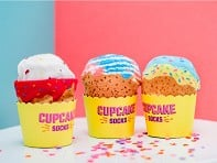 Sukeno Socks: Knitted Cupcake Socks - Case of 3