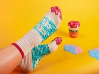Sukeno Socks: Knitted Ice Cream Socks - Case of 3