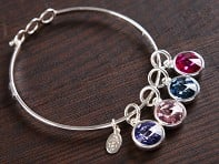 Float Jewelry: Multiple Charm Birthstone Bracelet