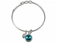 Float Jewelry: Silver Birthstone Charm Bracelet