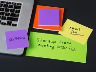 SlickyNotes: Static Charged Dry-Erase Sticky Notes - Sample