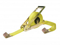 Retractable Ratchet Tie Down Strap - 10000 lbs. Breakstrength - Case of 3