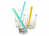 Silicone Reusable Straws - Set of 6 - Case of 12