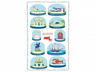 Vestiges: Snow Globe Towels - Case of 12