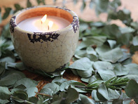 Mosquito Repellent Ceramic Garden Candle - Case of 6