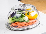 VeggiDome: Glass Tabletop Produce Saver - Case of 4
