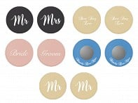 Wedding Saying Drink Covers - Set of 2 - Case of 6