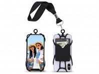 Universal Cell Phone Wrist Strap with Phone Holder and Card Pocket - Black