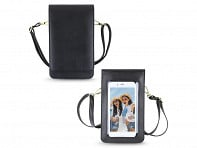 Cross Body RFID Purse with Touchscreen Phone Window