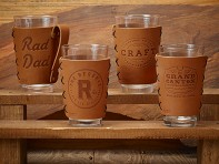 Oowee: Leather Pint Glass Sleeve - Case of 5