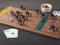 Across The Board: Wooden Tabletop Horseracing Game - Case of 6