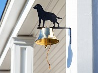 Bevin Bells: Brass Wall Bell with Silhouette
