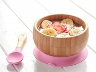 Bamboo Suction Baby Bowl & Spoon - Case of 10
