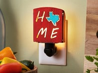 Whimsies: Reclaimed Metal Home State Night Light